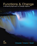 Functions and Change A Modeling Approach to College Algebra 5th 2014 edition cover