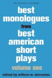 Best Monologues from Best American Short Plays, Volume One   2014 edition cover