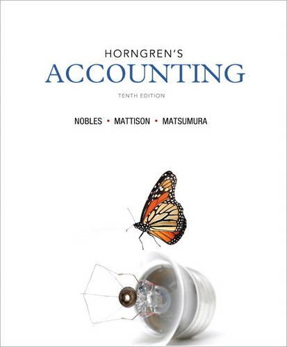Horngren's Accounting  10th 2014 edition cover