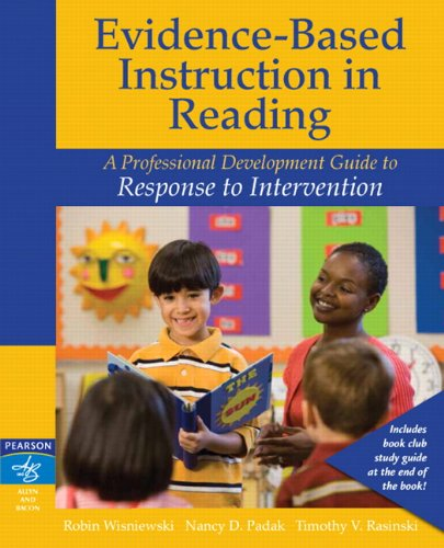 Evidence-Based Instruction in Reading A Professional Development Guide to Response to Intervention  2011 edition cover