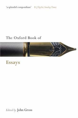Oxford Book of Essays   2008 edition cover