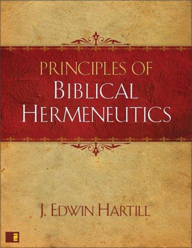 Principles of Biblical Hermeneutics  N/A edition cover