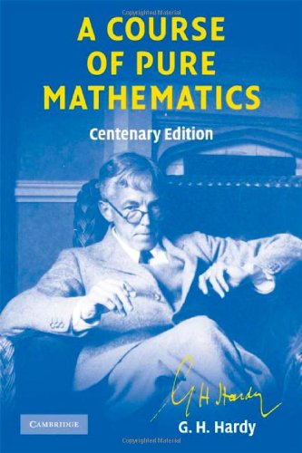 Course of Pure Mathematics Centenary Edition  10th 2008 9780521720557 Front Cover