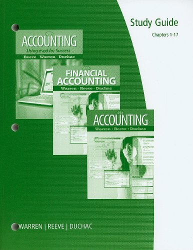 Accounting, Finincial Accounting, Chapters 1-17  24th 2012 9780538478557 Front Cover