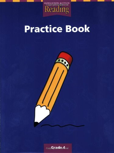 Practice Book, Grade 4   2000 9780618064557 Front Cover
