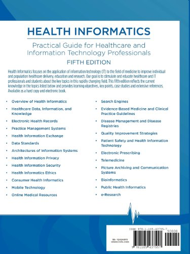 Health Informatics Practical Guide for Healthcare and Information Technology Professionals (Fifth Edition) 5th 2012 edition cover