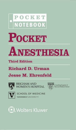 Pocket Anesthesia  3rd (Revised) 9781496328557 Front Cover