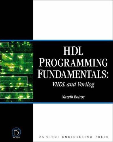 HDL Programming Fundamentals VHDL and Verilog  2006 edition cover