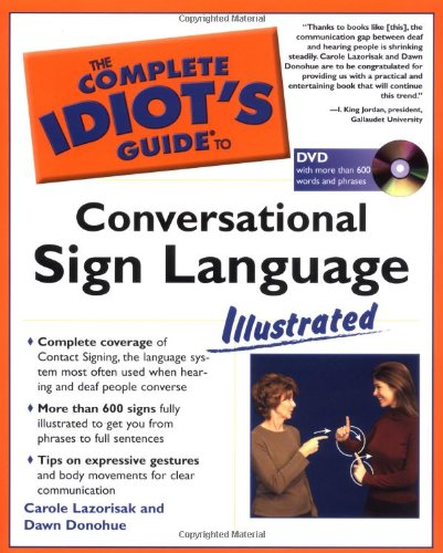 Complete Idiot's Guide to Conversational Sign Language Illustrated   2004 edition cover