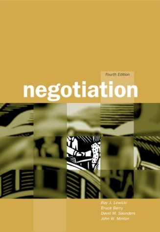 Negotiation 4th 2003 edition cover