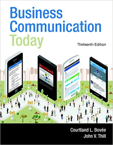 Business Communication Today  13th 2016 9780133867558 Front Cover