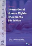 Blackstone's International Human Rights Documents  9th 2014 edition cover