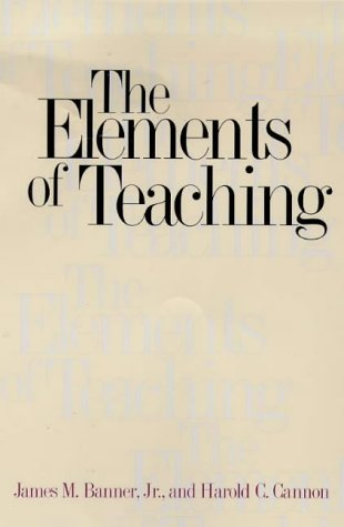 Elements of Teaching   1999 edition cover
