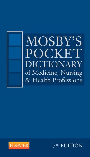 Mosby's Pocket Dictionary of Medicine, Nursing and Health Professions  7th 2014 edition cover