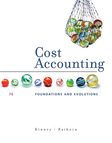 Cost Accounting Foundations and Evolutions 7th 2009 edition cover