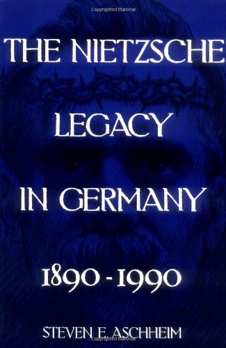 Nietzsche Legacy in Germany, 1890-1990   1992 edition cover