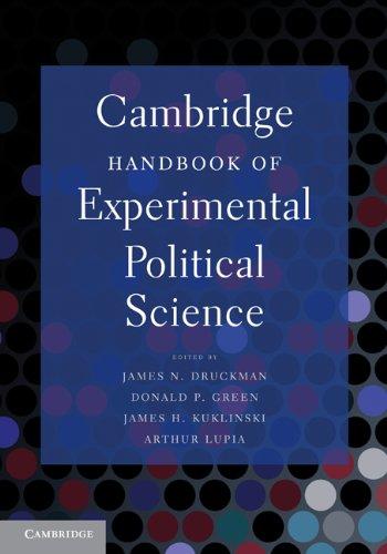 Cambridge Handbook of Experimental Political Science   2011 edition cover