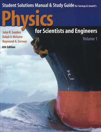 Student Solutions Manual and Study Guide to Accompany Physics for Scientists and Engineers 6th 2004 edition cover