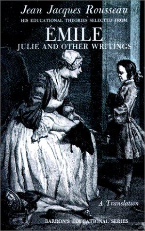 Jean Jacques Rousseau Emile N/A edition cover