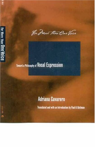 For More Than One Voice Toward a Philosophy of Vocal Expression  2005 edition cover