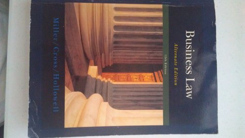 BUSINESS LAW:ALT.ED.>CUSTOM<            N/A 9781285112558 Front Cover