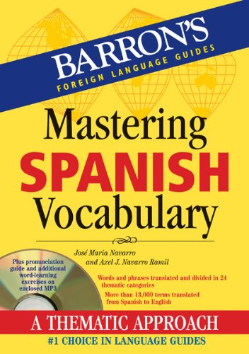 Mastering Spanish Vocabulary A Thematic Approach  2012 edition cover