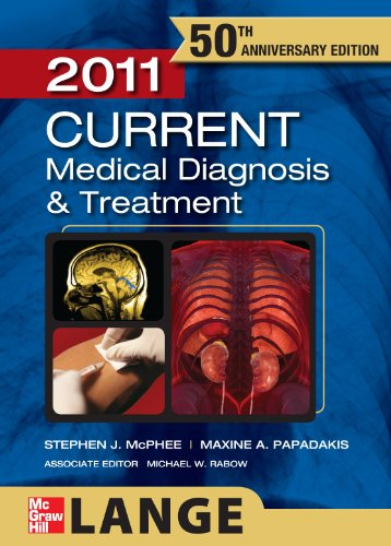 CURRENT Medical Diagnosis and Treatment 2011  50th 2011 edition cover