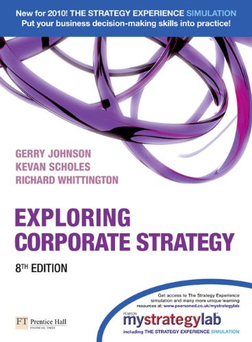 Exploring Corporate Strategy with MyStrategyLab  8th 2010 9780273731559 Front Cover
