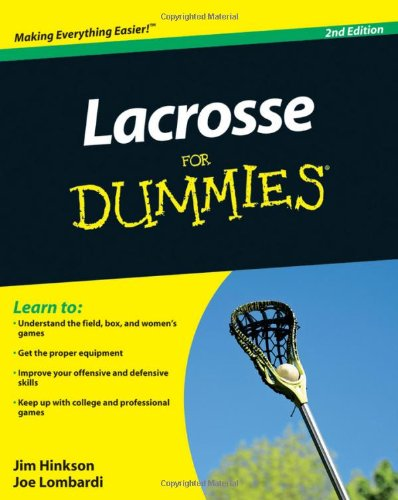 Lacrosse for Dummies  2nd 2010 edition cover
