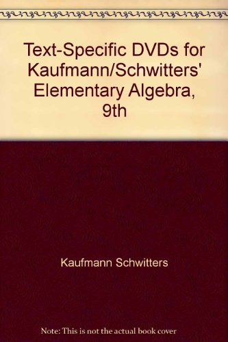 Elementary Algebra  9th 2011 9780538739559 Front Cover