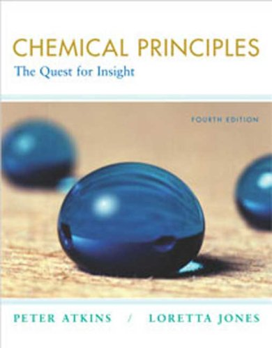 Chemical Principles The Quest for Insight 4th 2007 edition cover