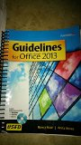 GUIDELINES F/MICROSOFT OFFICE 2013-TEXT N/A 9780763852559 Front Cover