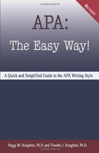 APA : The Easy Way! 1st 2005 edition cover