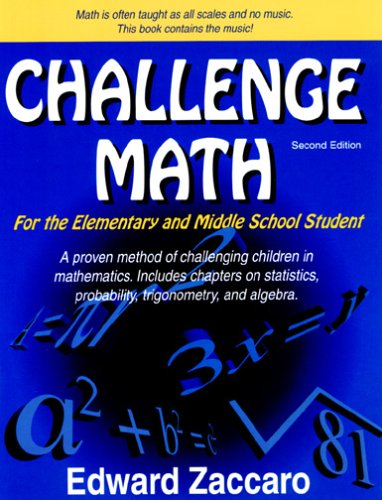 Challenge Math for the Elementary and Middle School Student 2nd 2005 edition cover
