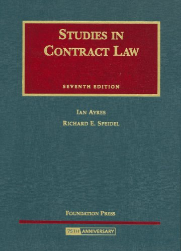 Studies in Contract Law  7th 2008 (Revised) edition cover