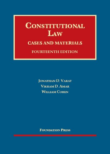 Constitutional Law: Cases and Materials  2013 edition cover