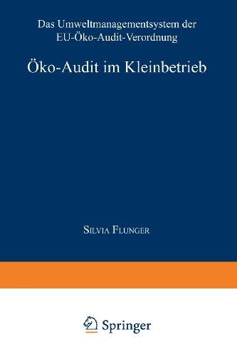 Öko-audit Im Kleinbetrieb: Das Umweltmanagementsystem Der Eu-öko-audit-verordnung  1998 9783824466559 Front Cover