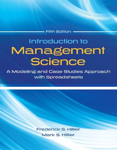 Introduction to Management Science with Student CD and Risk Solver Platform Access Card A Modeling and Cases Studies Approach with Spreadsheets 5th 2014 edition cover