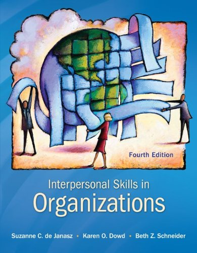 Interpersonal Skills in Organizations  4th 2012 edition cover
