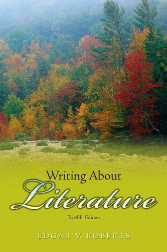 Writing about Literature  12th 2010 edition cover