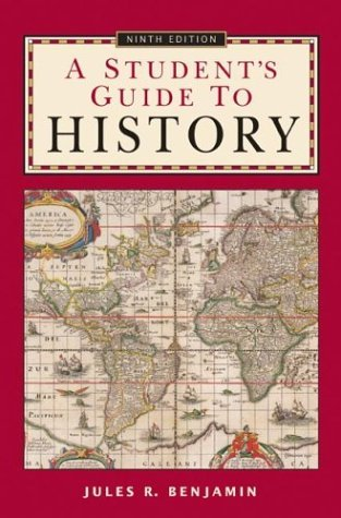 Student's Guide to History  9th 2004 (Student Manual, Study Guide, etc.) edition cover