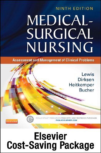Medical-Surgical Nursing - Single-Volume Text and Study Guide Package Assessment and Management of Clinical Problems 9th edition cover