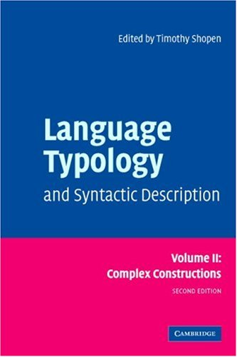 Language Typology and Syntactic Description Complex Constructions 2nd 2006 (Revised) 9780521588560 Front Cover