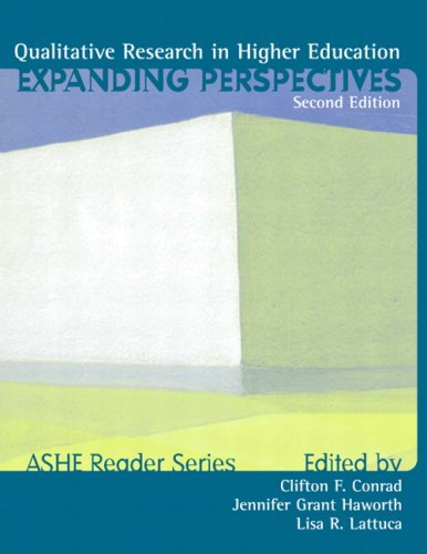 Qualitative Research in Higher Education Expanding Perspectives 2nd 2001 9780536623560 Front Cover