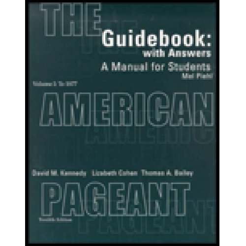American Pageant A History of the Republic 12th 2002 (Guide (Pupil's)) 9780618103560 Front Cover