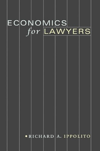 Economics for Lawyers   2010 edition cover