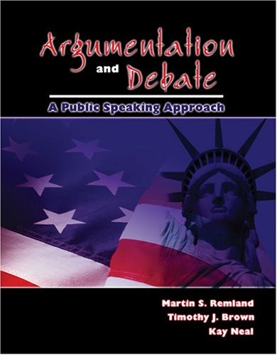 Argumentation and Debate A Public Speaking Approach Revised edition cover