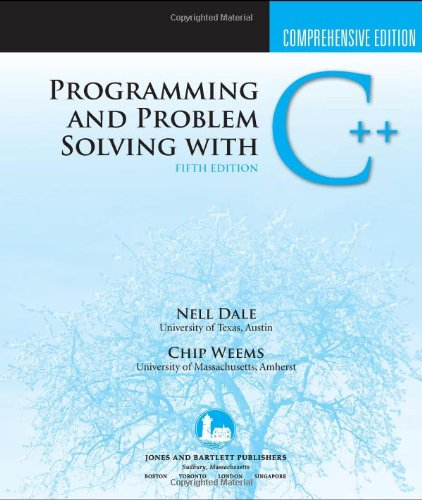 Programming and Problem Solving with C++  5th 2010 (Revised) edition cover