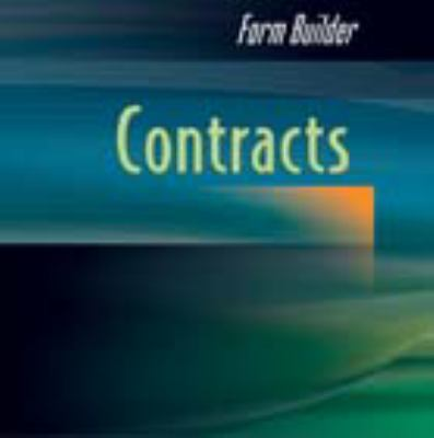 Form Builder Contracts  2003 9780867185560 Front Cover