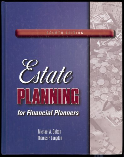 Estate Planning for Financial Planners 4th 2006 9780974894560 Front Cover
